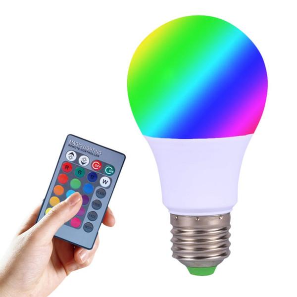2018 New 3W/5W E27 RGB LED Bulb High Power RGB LED Lamp Light 220V 110V Lampada 16 Color 24 Key Remote Control