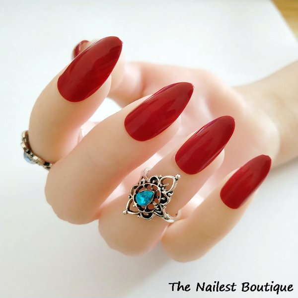 Acrylic Vampire Coffin False Nails Stiletto Deep Burgundy Full Cover Fake  Nails Charming Short Press On Fake Nails French Nails From Nomakeup,  $34 91 