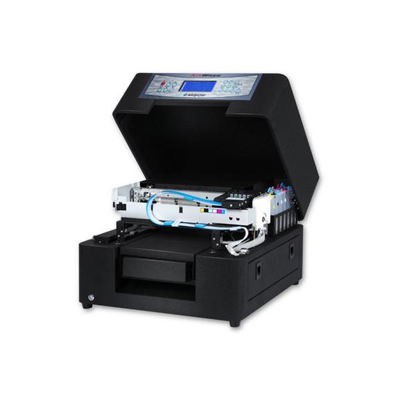 Yüksek kaliteli renkli eko solvent baskı makinesi masaüstü inkjet köpek etiket yazıcı