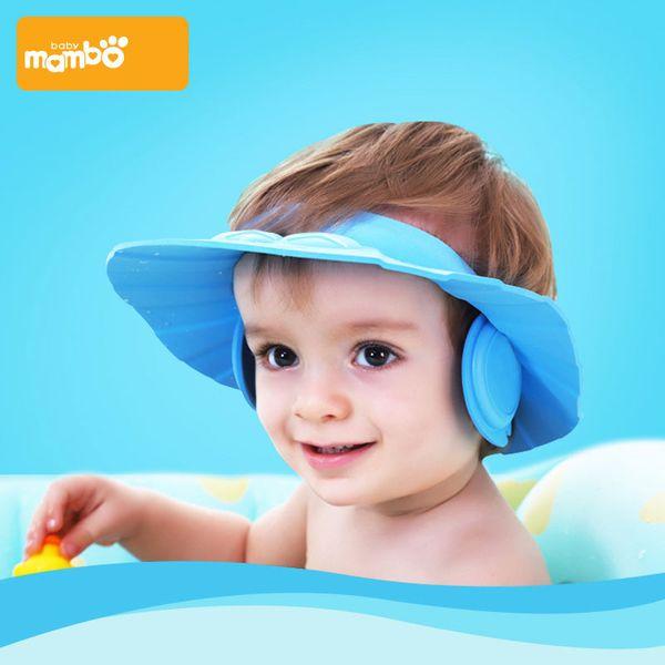 93be0b480 2018 Baby Shower Caps Wash Hair Shampoo Cap Kids Bath Visor Hats Adjustable  Shield Waterproof Ear Protection Eye Children Hats Infant From ...