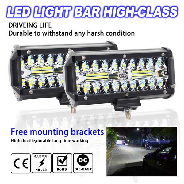 free shipping yentl 120W LED Work Light Bar Flood Spot Beam Offroad 4WD SUV Driving Fog Light for boat jeep suvs
