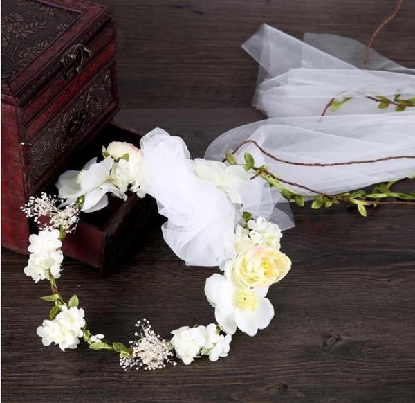 New brides, headwear, garlands, netting, hair, hair accessories, wedding style wedding dress, garlands, garlands, accessories.