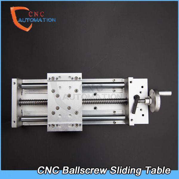 best selling DIY CNC Engraving Machine Sliding Table Manual Ballscrews SFU1605 C7 High Precision Slide Linear Table for Z axis