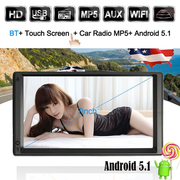 "2 DIN Android Car Radio GPS WIFI 5.1 Mutimedia Player GPS Navigation Stereo autoradio Entertainment 7"" HD Touch Screen BT WIFI"