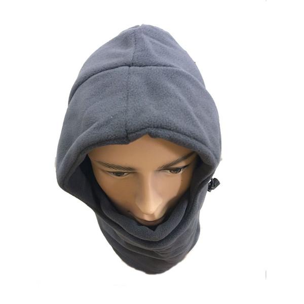 2017 HOTSALE gray Solid Color Winter Masks Ski Mask Winter Warm Hat Windproof Cycling Fleece Hat Windproof warm cap
