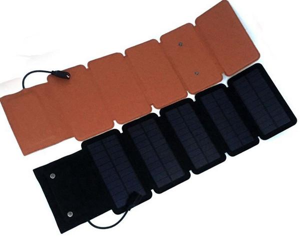 Cargador solar a prueba de agua 7.5 W Cargador solar solar plegable de alta eficiencia para el cargador de panel solar para teléfono móvil Banco de energía MP34 portátil