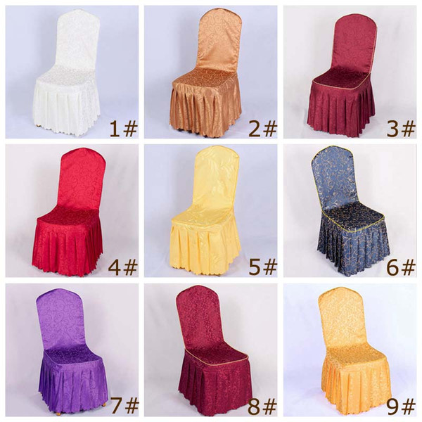Super New Polyester Chair Covers For Wedding Party Banquet Hotel Living Room Dining Furniture High Chair Seat Cover 9 Styles Slipcovers For Recliner Sofa Short Links Chair Design For Home Short Linksinfo