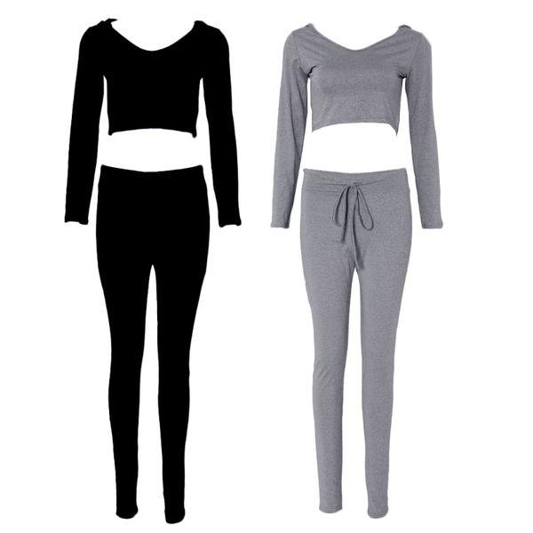 Casual Women Suit Outfit Two 2 Piece Set Crop Top Legging Sweatpants Set Crop Hoodie Set Sweatshirt Pants Tracksuit Female Hot