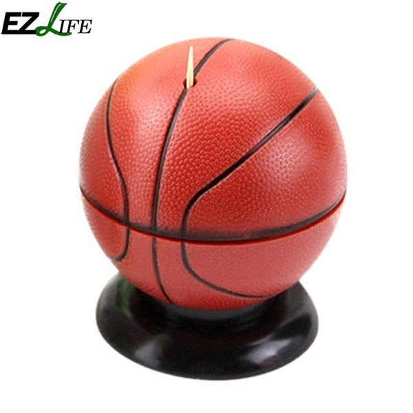 1pcs Toothpick Holder Basketball Shaped Toothpick Holder Creative Automatic Box Home Table Decorations CFA4700