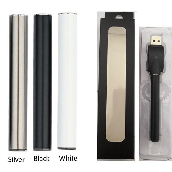 C5 510 Vape Kalem Pil TH205 92A3 Kartuşları 350 mah E Sigara Buharlaştırıcı Piller LED Işık 10.5 * 77mm USB Şarj Ile