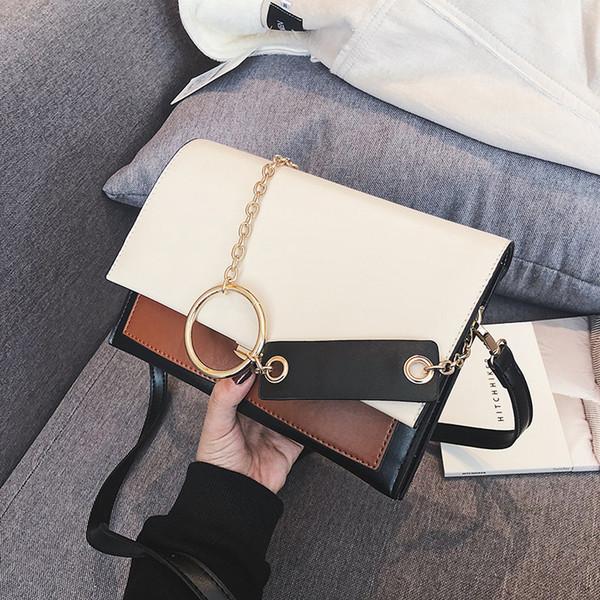 2018 Chain ring New Fashion Women Shoulder Bag Chain Strap Flap Designer Handbags Clutch Bag Ladies Messenger Bags With Metal