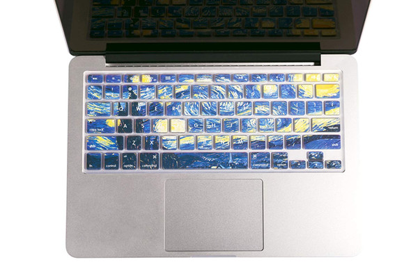 """Starry Night by Van Gogh Macbook keyboard Cover for MacBook Air 13"""" MacBook Pro 13"""" 15"""" 17"""" (with or without Retina Display) and iMac Wirele"""