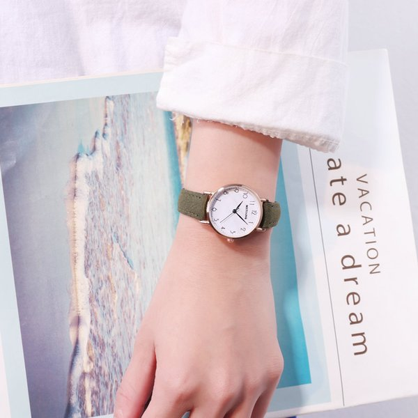Ins Cold Wind Restore Ancient Ways Chic Small Fresh Marble Wrist Watch Girls Student Korean Concise Trend School Wind