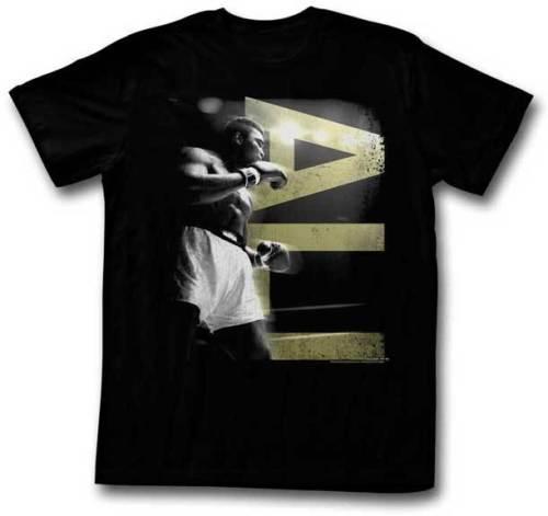 Muhammad Ali In Ring Ali Big Letter T Shirt per adulti Boxing Champ 100% cotone taglie superiori