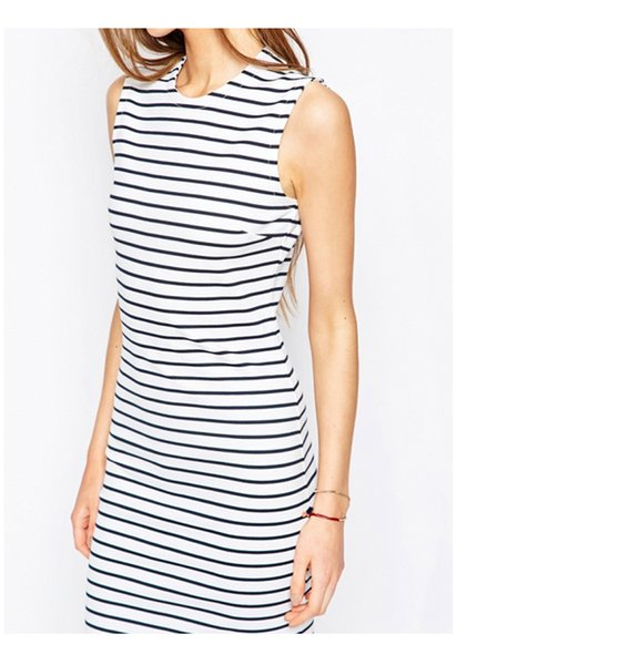 best selling The latest arrival of summer clothing in 2019 Striped tight skirt Fashion Dress