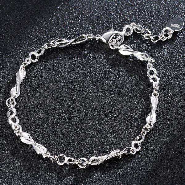 Love to the Eternal Fashion Sequin Silver Bracelet Day Korea Slim the Simple Fashion Jewellery to Wholesale Women