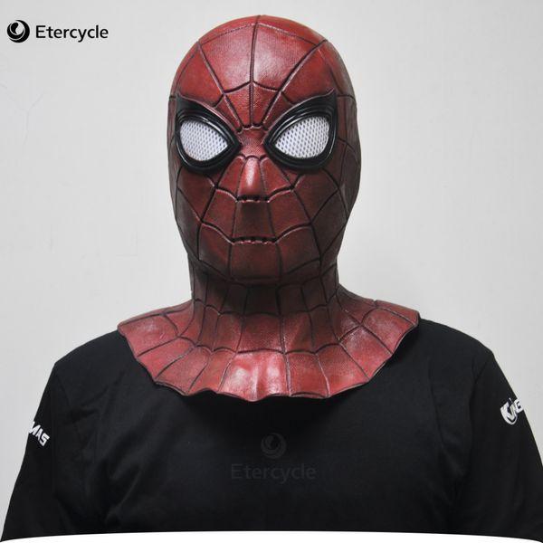 Superhero Spiderman Máscara Cosplay Para Adultos Full head adereços festa Halloween látex máscara