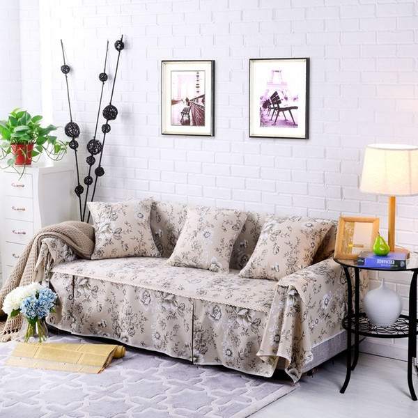 Floral Cotton Linen Slipcover Sofa Cover Oukr Protector For 1 2 3 4 Seater  Fhjdb Slipcover For Sofa Couch And Chair Covers From Supreme1982, $5.98| ...