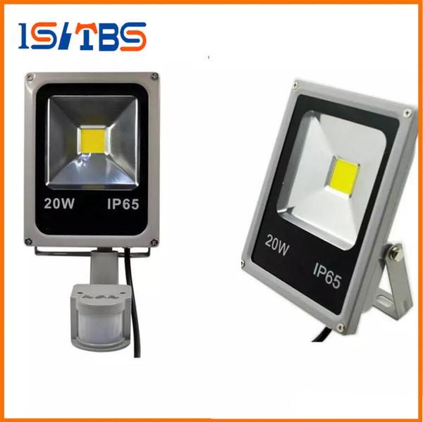 LED-Flutlichter mit Sensor 10W 20W 30W 50W Bewegungssensor Flutlicht Pir Induktionsreflektor Außenstrahler