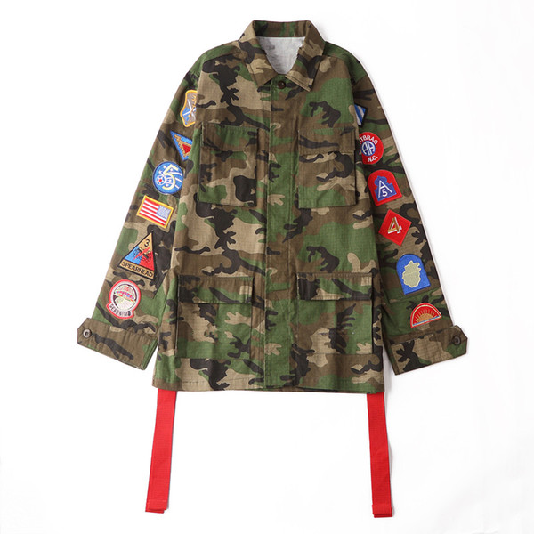 Новое прибытие американская мода камуфляж куртка рука эмблема повседневная мода
