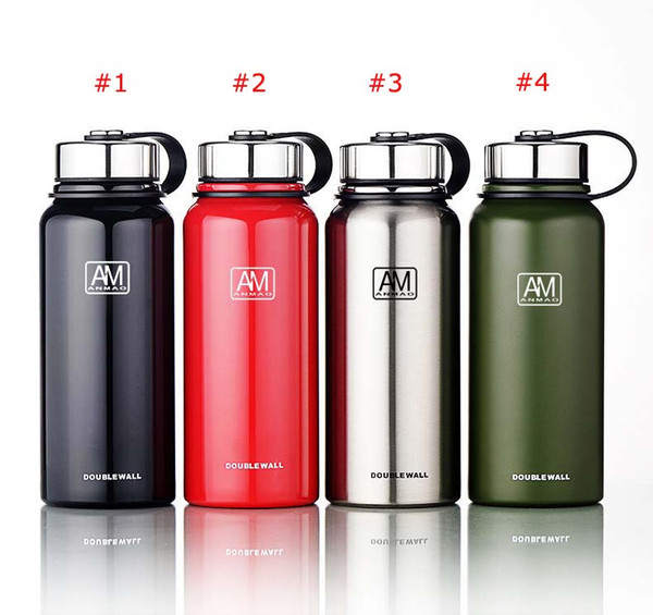 New Vacuum Travel stainless steel vacuum flask portable large capacity sports water bottle 4 color Custom Logo