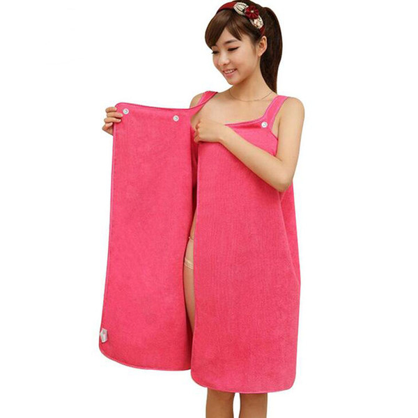 Femmes Serviette De Bain Tissu Microfibre Portable Serviette De Plage Rose Rouge Doux Enveloppement Jupe Serviettes Super Absorbant Maison Textile