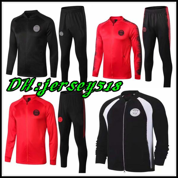 Jordam X PSG jacket suit Champions League Survetement 18 19 Training suit PSG MBAPPE football jackets POGBA soccer jogging tracksuit set