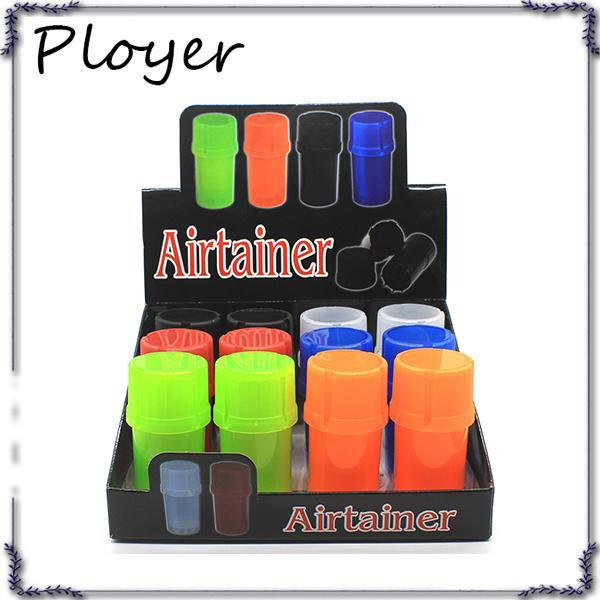 Neueste Airtainer 2 in 1 Herb Grinder Container Herb Tabak Lagerung Acryl Flasche Stil fünf Farbe 0266214-1