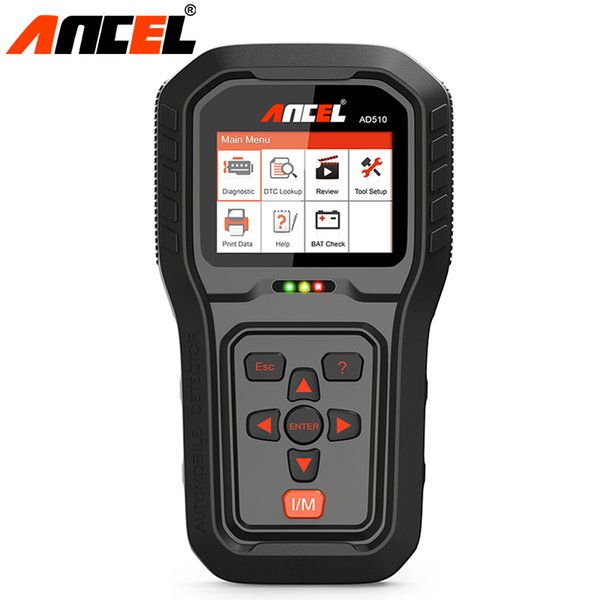 Ancel AD510 Pro OBD OBD2 Auto Car Diagnostic Tool Engine OBD2 Scanner Code ODB2 Free Upgrade Reader Remove Error Code Print Data