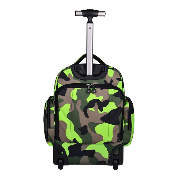 LeTrend Camouflage Backpack waterproof Travel Bag Women large capacity Rolling  Luggage Suitcases Wheel Cabin Shoulder Bags 7846647c4a223