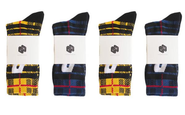 Ins Sıcak P Mektup Çorap Erkekler '; S Ve Kadınlar'; S Çoraplar Pamuk Terry -Loop Çorap Harajuku Hip Hop Spor Ekose Çorap