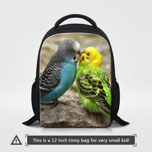 Kindergarten School Bags For Girls Boys Cute Animal Parrot Pattern Backpack To School Kids Small Bagpack For Traveling Children Mini Bookbag