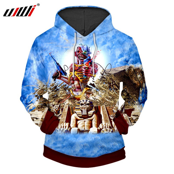 2018 Hoodie Sweatshirt Pullover Man 6XL Hooded O-Neck Iron Maiden 3d Printed Hoodies Men Hip Hop Clothing Dropshipping