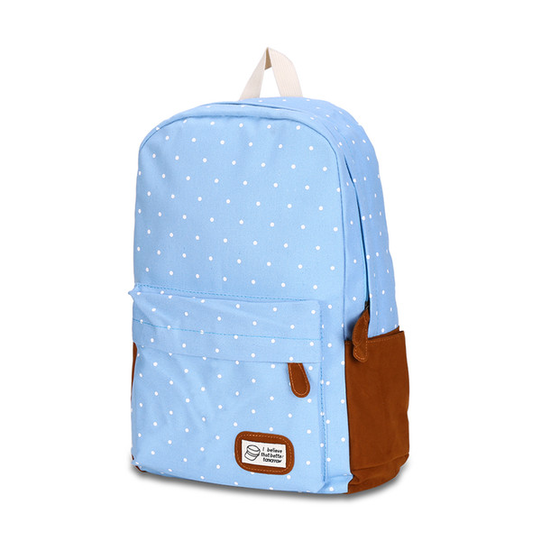 9313P Black Preppy Style School Backpacks For Teenage Girls College Style Casual Backpack on Sale