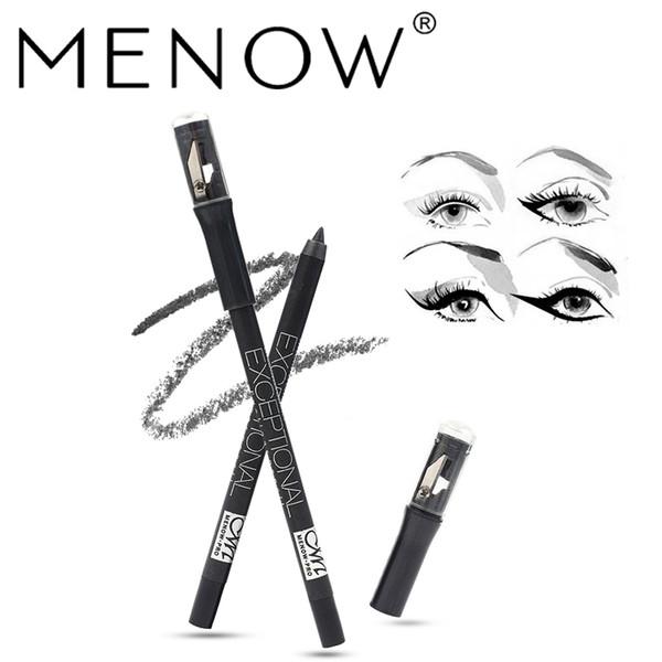 Menow Professional Eyeliner Pen Black With Sharpener Waterproof Eyeliner Pencil Long-lasting Makeup Eye liner Cosmetic Tool