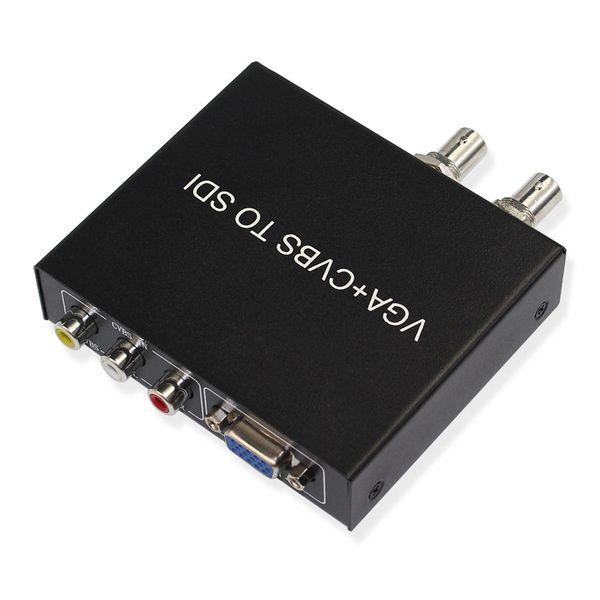 hot sale VGA to SDI Converter Adapter VGA+CVBS to SDI Support Full-HD / SD-SDI / 3G-SDI 2 SDI Ports Free Shipping