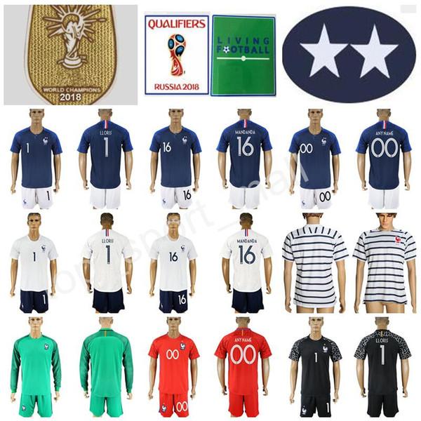 654a7c73d Goalkeeper Soccer Jersey Two Star 2018 World Cup Set 1 Hugo Lloris Football  Shirt Kits Long