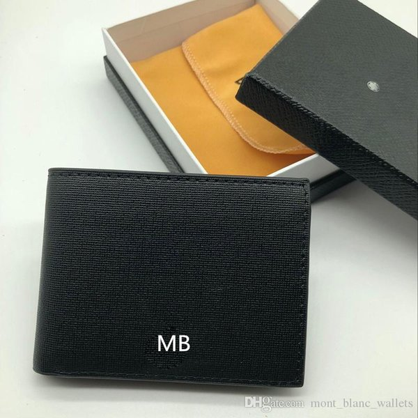 New Selling Men's Leather Fashion Business Small Wallet Short MT Holder MB Luxury Gift Bag Credit Card Holder Pocket Photo M B Wallets