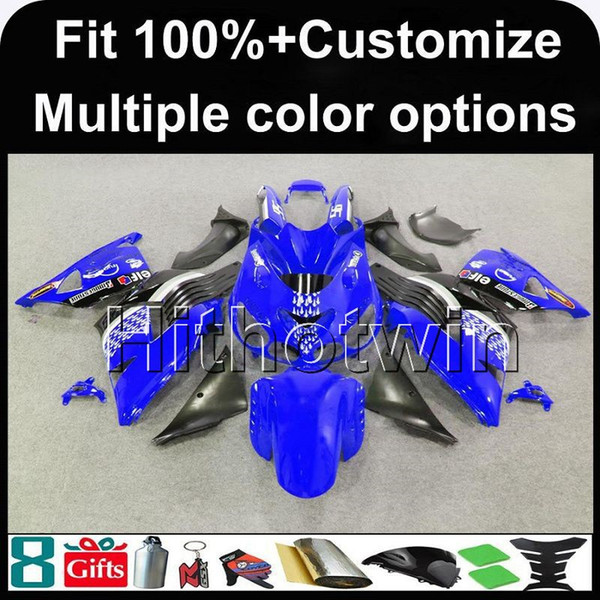 23colors+8Gifts Injection mold blue black motorcycle cowl for Kawasaki Ninja ZX-14R 2006-2011 ZX14R 06 07 08 09 10 11 ZX 14R ABS Fairing