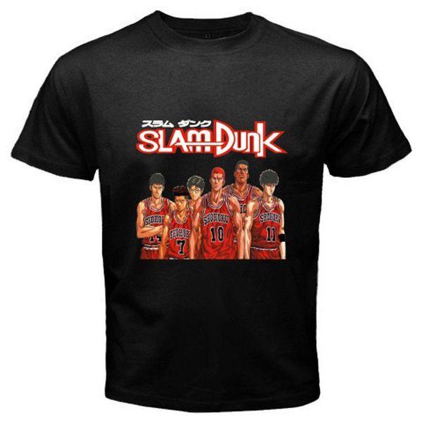 SLAM DUNK * Hanamichi Sakuragi Basketball Anime T-shirt nera da uomo taglia S a 3XL