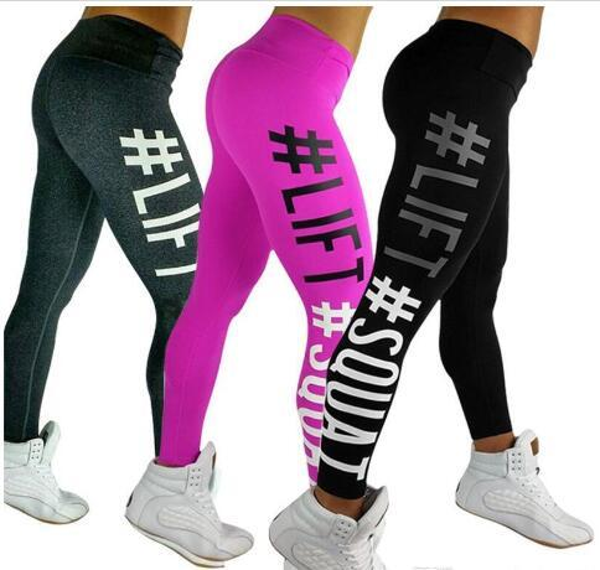 New Fashion Ladies Women Sports Yoga Gym Wear Trousers Leggings Workout Running Fitness Pants Gray Black for Women