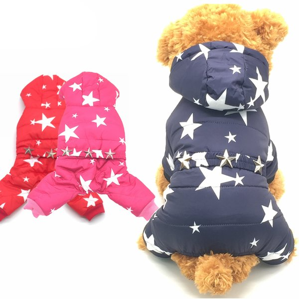 King -S Pet Dogs Pets Clothing Coat Jacket Teddy Chihuahua More Stars Clothes Small Dogs Four Legs Puppy Leisure Style Size S -Xxl