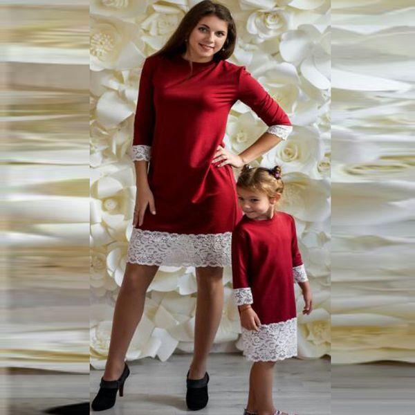 af9833759a15 Compre Nueva Madre E Hija Ropa Familia Vestidos De Navidad Niña Falda De  Encaje Bebé Outfit Niñas Otoño Moda Niños Traje QZZW110 A $6.94 Del ...