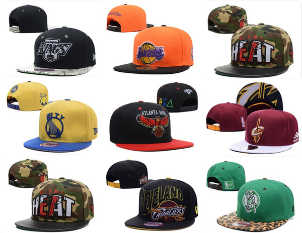 top popular New Arrivel Basketball Team Snapback Cap Flat Brimmed Hats Supply For Adults Mens Womens Hip Hop Adjustable Party Gorras Gift Sport Cap 2019