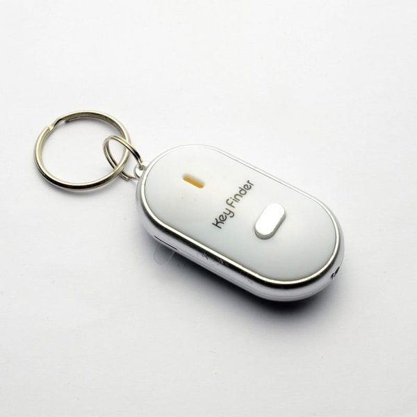 Smart Finder key Whistle Sensors White 1 PCS Keychain Sound LED With Whistle Claps Finder Locator Find Lost Keychain