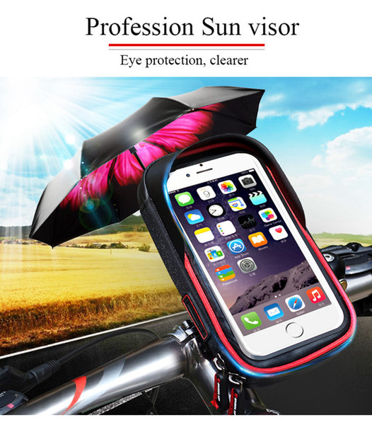 Free Shipping Waterproof Moto Bike Bicycle Mount Phone Holder Bag Case Mobile GPS Support For iP6 6S for Samsun Galaxy S3 S4
