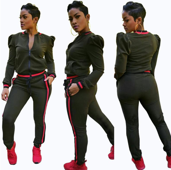 S-XXXL Womens Sport suit Casual Fashion Autumn Long Sleeved Two-piece Jogger Set Ladies Fall Tracksuit Sweat Suits