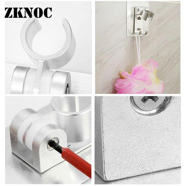 Shower Nozzle stand Gel Mounted Bracket Holder Hand Held Bathroom Shower Head Fitting Portable Bathroom Accessories