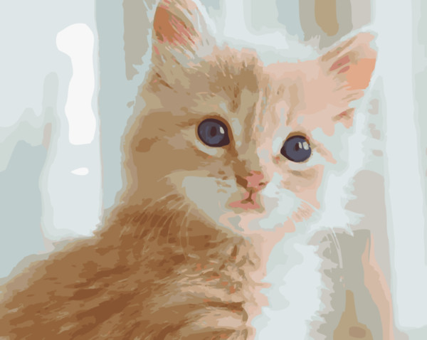 Cute Yellow Feather Cat 16x20 inches DIY Paint On Canvas drawing By Numbers Kits Art Acrylic Oil Painting Frame For Adult Teen