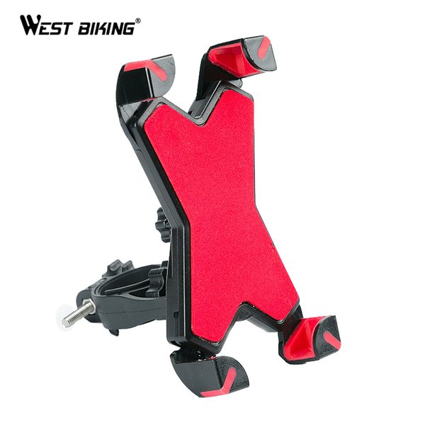 WEST BIKING Cycling Phone Holder Motorcycle MTB Bicycle Handlebar Holder For Cell Phone GPS Cycling Support Stand